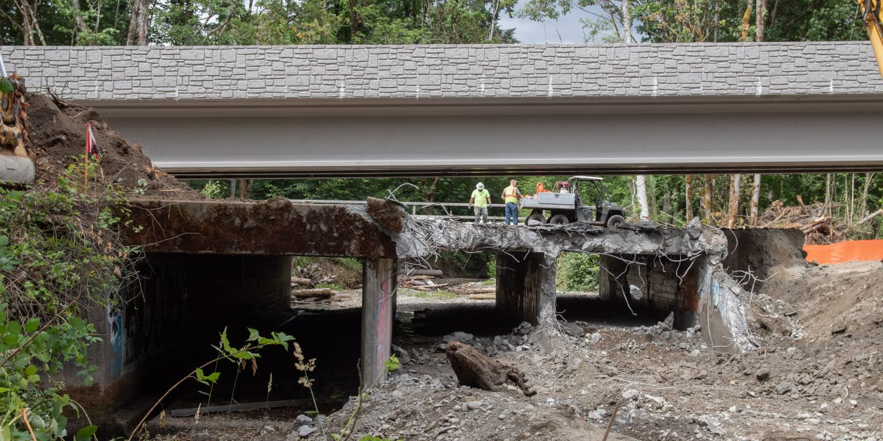 Golf Club Hill Road Triple-Box Culvert Replaced with Bridge on Chico Creek
