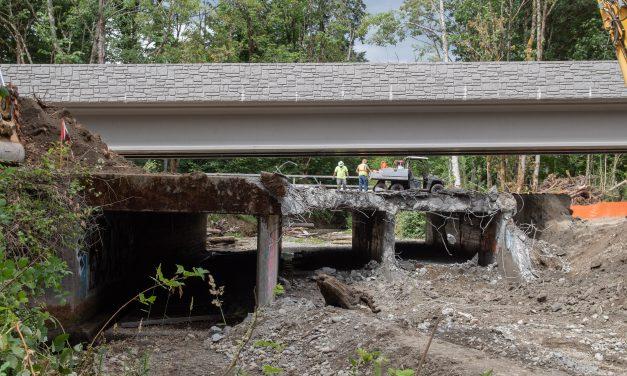 Golf Club Hill Road Triple-Box Culvert Replaced with Bridge on Chico Creek