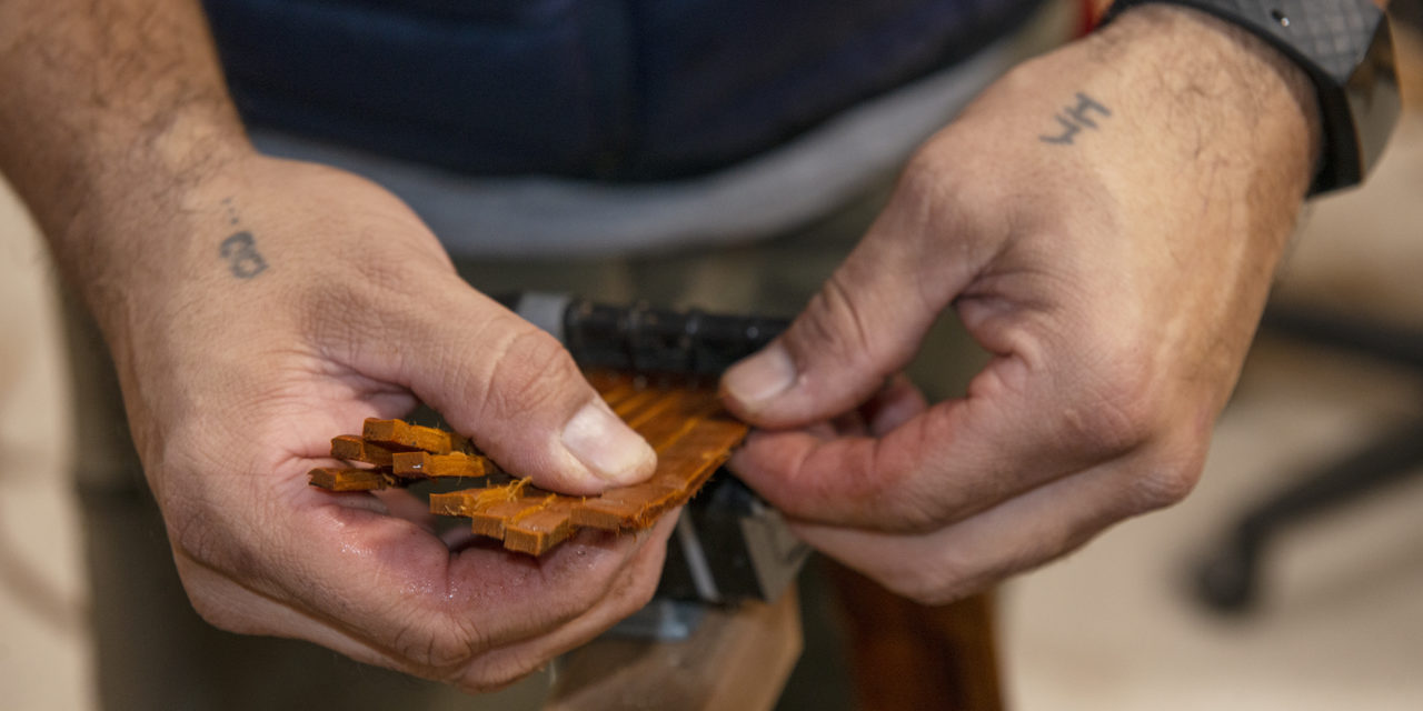 Cedar's Power Comes Through Each Part of Preparing to Weave
